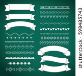 set of page decoration elements.... | Shutterstock .eps vector #598485743