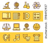 set of school and education... | Shutterstock .eps vector #598492937