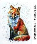 fox  | Shutterstock . vector #598501133