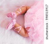 baby girl like a ballet dancer... | Shutterstock . vector #598515917