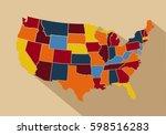 usa map vector illustration | Shutterstock .eps vector #598516283