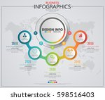 infographic business horizontal ... | Shutterstock .eps vector #598516403
