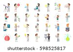 scientist character collection... | Shutterstock . vector #598525817