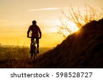silhouette of enduro cyclist... | Shutterstock . vector #598528727