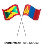 grenadian and mongolian crossed ... | Shutterstock .eps vector #598530053
