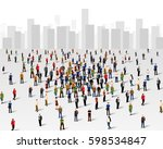 large group of people over the... | Shutterstock .eps vector #598534847