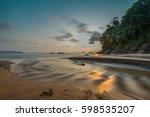 sunset on the beach. phang nga...   Shutterstock . vector #598535207