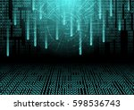 modern digital code with... | Shutterstock .eps vector #598536743