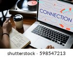 get in touch connection... | Shutterstock . vector #598547213
