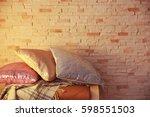 Three Shiny Decorative Pillows...