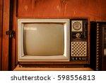 old vintage tv | Shutterstock . vector #598556813