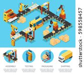 isometric industrial factory... | Shutterstock .eps vector #598558457