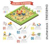isometric playground... | Shutterstock .eps vector #598558943