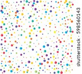 festive colorful round confetti ... | Shutterstock .eps vector #598560143
