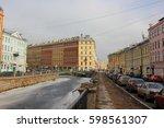 Small photo of Naberezhnaya kanala Griboedova. Russia, Saint-Petersburg, 12 March 2017