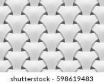 white shaded abstract geometric ... | Shutterstock . vector #598619483