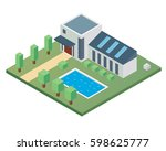 modern isometric house...   Shutterstock .eps vector #598625777