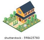 modern isometric house...   Shutterstock .eps vector #598625783