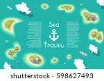 vector illustration. islands... | Shutterstock .eps vector #598627493