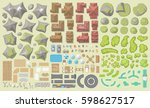vector set. urban and landscape ... | Shutterstock .eps vector #598627517