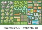 set of landscape elements.... | Shutterstock .eps vector #598628213