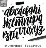 decorative vector abc letters.... | Shutterstock .eps vector #598634903