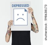 depressed alone sadness... | Shutterstock . vector #598638173