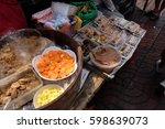 "street foods at ""yaowarat""... | Shutterstock . vector #598639073"