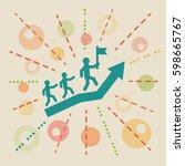 leadership. concept business... | Shutterstock .eps vector #598665767