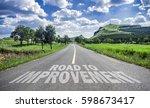 road to improvement | Shutterstock . vector #598673417