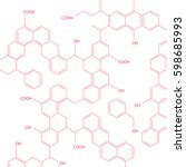 molecules forming chemical... | Shutterstock .eps vector #598685993