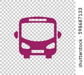 bus icon flat . | Shutterstock .eps vector #598687133
