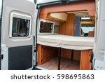interior of luxury caravan.... | Shutterstock . vector #598695863