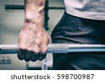 the man in the gym | Shutterstock . vector #598700987
