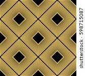 art deco seamless pattern... | Shutterstock .eps vector #598715087