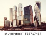 city skyscrapers isolated on... | Shutterstock . vector #598717487