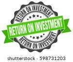 return on investment. stamp.... | Shutterstock .eps vector #598731203