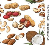 Seamless Pattern Of Coconut ...