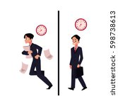 young businessman  manager in... | Shutterstock .eps vector #598738613