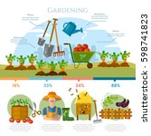 gardening  farmer grows... | Shutterstock .eps vector #598741823