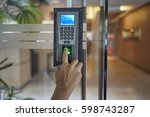 yong man push down the... | Shutterstock . vector #598743287