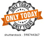 only today. stamp. sticker.... | Shutterstock .eps vector #598744367