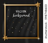 the golden picture frame on the ... | Shutterstock .eps vector #598748603