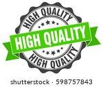 high quality. stamp. sticker.... | Shutterstock .eps vector #598757843