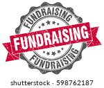 fundraising. stamp. sticker.... | Shutterstock .eps vector #598762187