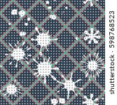 seamless pattern. multi colored ... | Shutterstock .eps vector #598768523