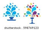 Set Vector Icon Fountain. Logo...
