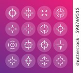 crosshairs set  vector elements ...