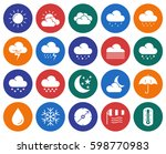 collection of round icons ... | Shutterstock .eps vector #598770983