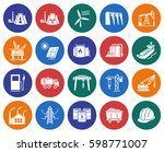 collection of round icons ... | Shutterstock .eps vector #598771007